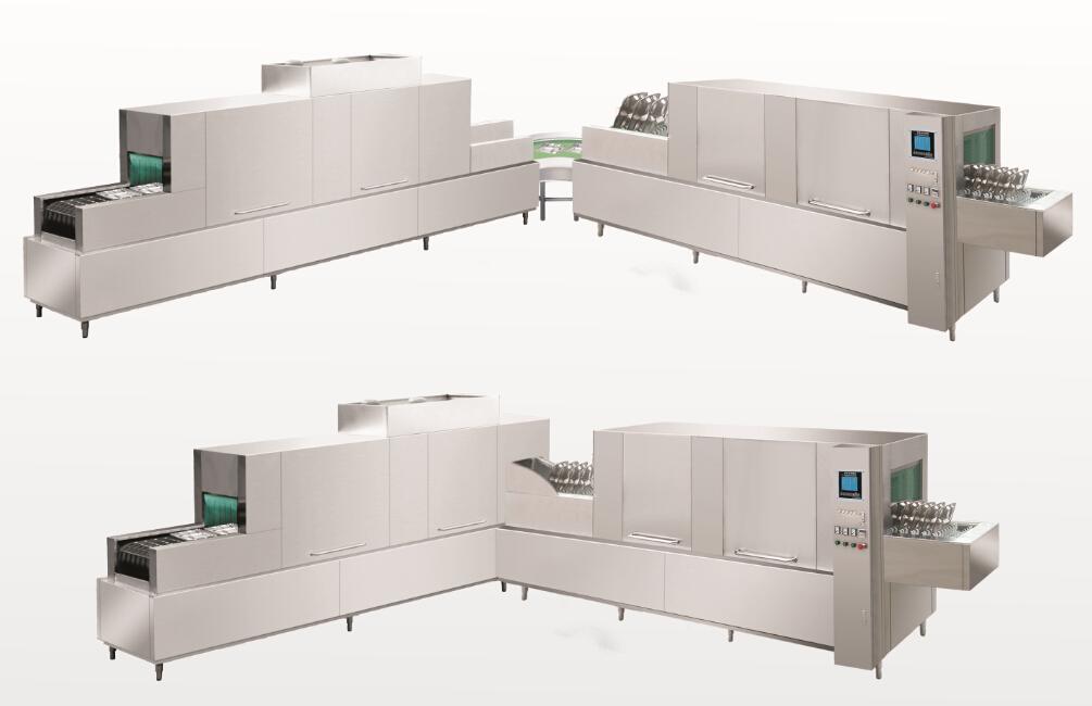 欧格YB型全自动智能洗碗机系列 欧格YB-C转角型全自动洗碗  很多单位受场地限制,无法使用一体式的洗碗机,欧格YB-C转角型全自动洗碗根据客户场地情况设计摆放,可分体加转弯,直角转弯90--180度均可实现,帮助客户更有效、更合理的利用空间。所有功能参数参照欧格YB系列。